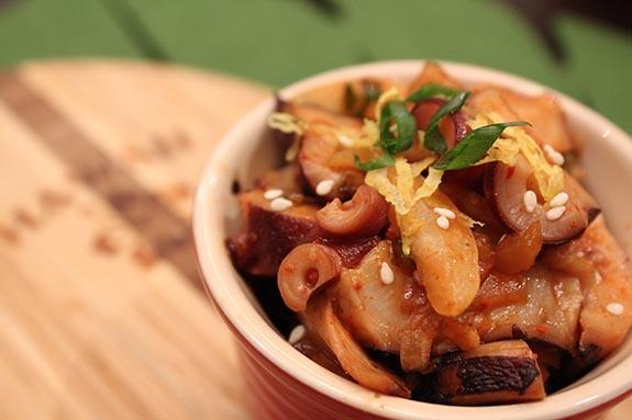 Kimchi Octopus Poke